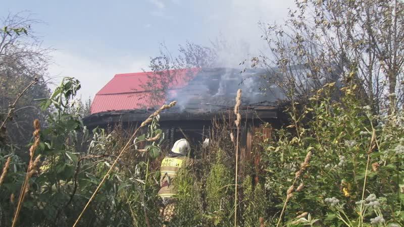 Пожар в садах огородах среди бела дня собрал множество очевидцев