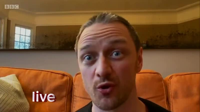 В ЭФИРЕ JamesMcAvoy about his incredible donation to Masks for NHS Heroes