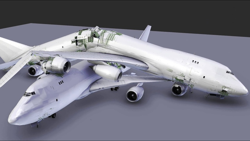 Plane Crash Test of a Boeing 747 WIP
