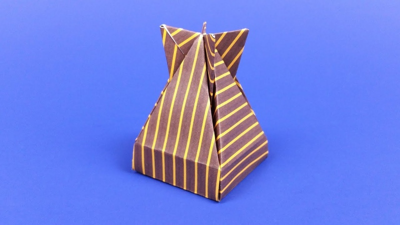 How to make an Origami Dropbox a cool paper gift box designed by José Meeusen