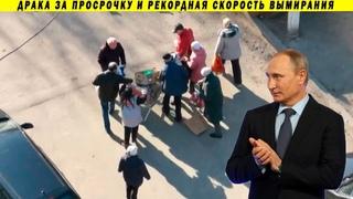 Старики дерутся за просрочку - спасибо Путину за это! Нищета, смертность и реформы