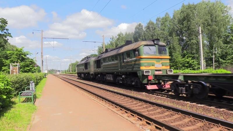 Электропоезд ЭР9т 702 и тепловоз 2М62 1022 ER9t 702 EMU and 2M62 1022