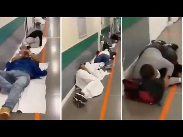 Madrid caos in ospedale pazienti per terra anche nei corridoi