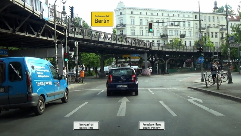 🇩 Berlin Tiergarten Prenzlauer Berg über Innenstadtring ↺ 2x