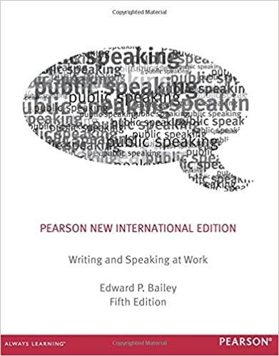 Writing & Speaking at Work Pearson New International Editio