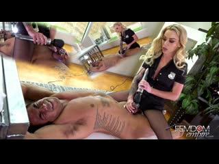 FemdomEmpire.com - Isabelle Deltore - Edging Interrogation [Femdom, Chastity, Bondage, Vibrator, Tease and Denial, Pantyhose]