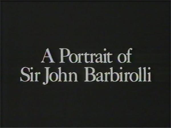 J B A Portrait of Sir John Barbirolli 1965 programme 1992 repeat
