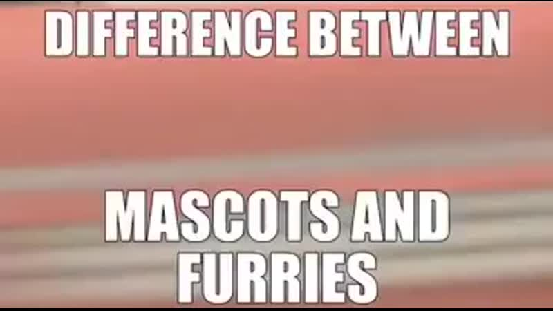 About mascots and furries