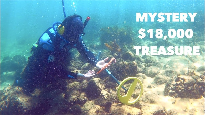 Metal Detecting Search for $18,000 GOLD MYSTERY Treasure Lost at SEA