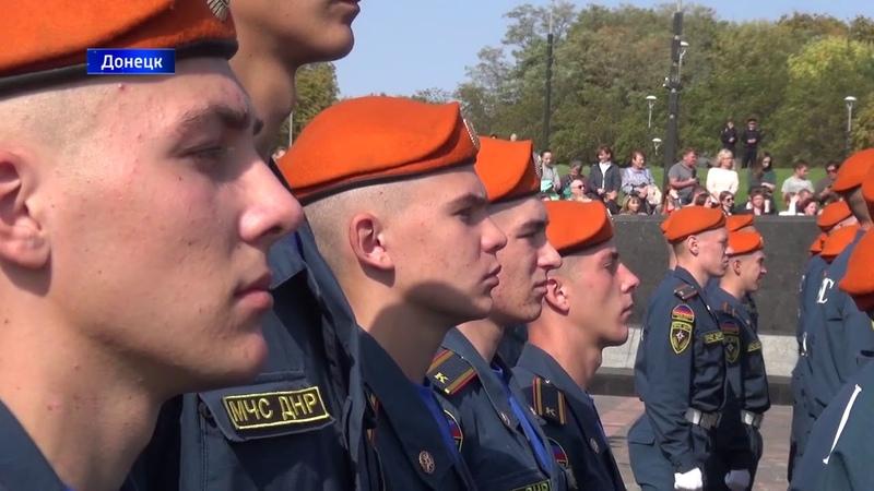 60 курсантов Академии гражданской защиты МЧС ДНР приняли Присягу