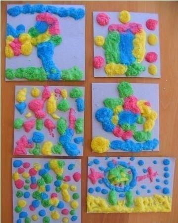 Самодельные объемные краски Объем эти краски приобретают при нагревании и вызывают полный восторг у детей! Такие краски позволяют создавать забавные пухлые рисунки. Смешайте ингредиенты в