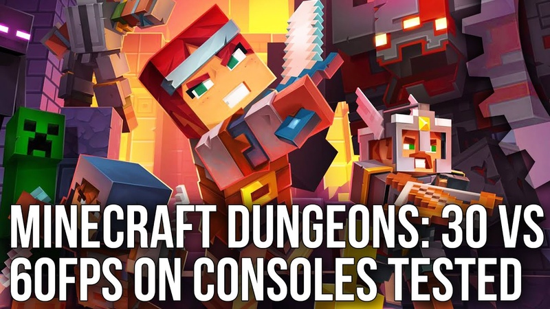 Minecraft Dungeons The 30fps 60fps Divide Every Console Tested