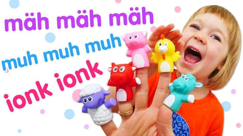 Lustige Spiele und Lernvideo für Kinder. Bianca und das Fingertheater. DaDa Spielzeug
