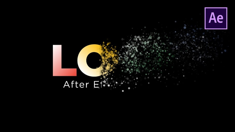 After Effects Tutorial Text Particle