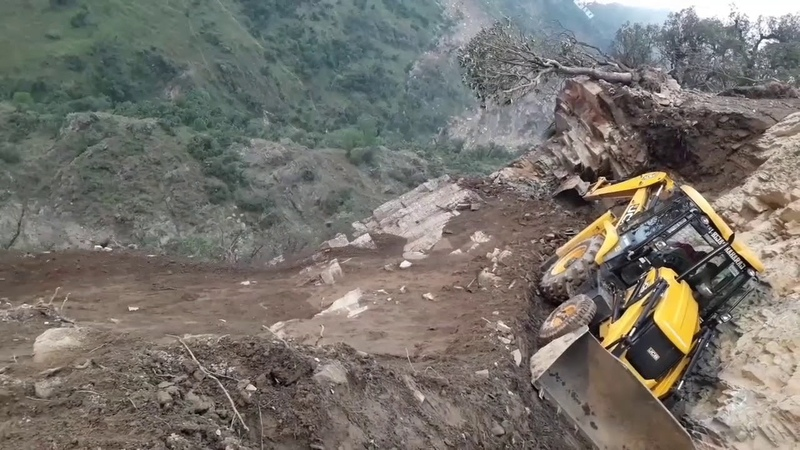 JCB 3DX Super Extreme Road Construction Himachal Pradesh