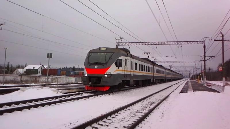 Электропоезд ЭП2Д на южном БМО в Бекасово Сортировочном