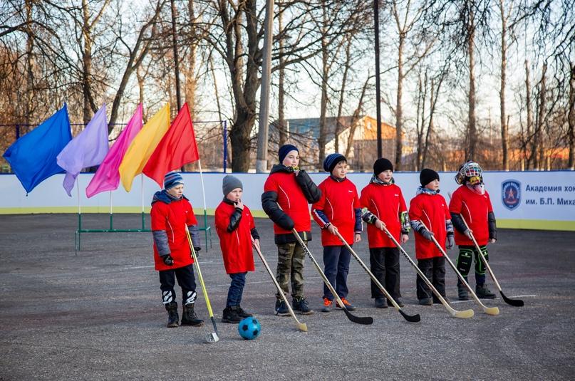 Открытие хоккейного корта в Кимовске