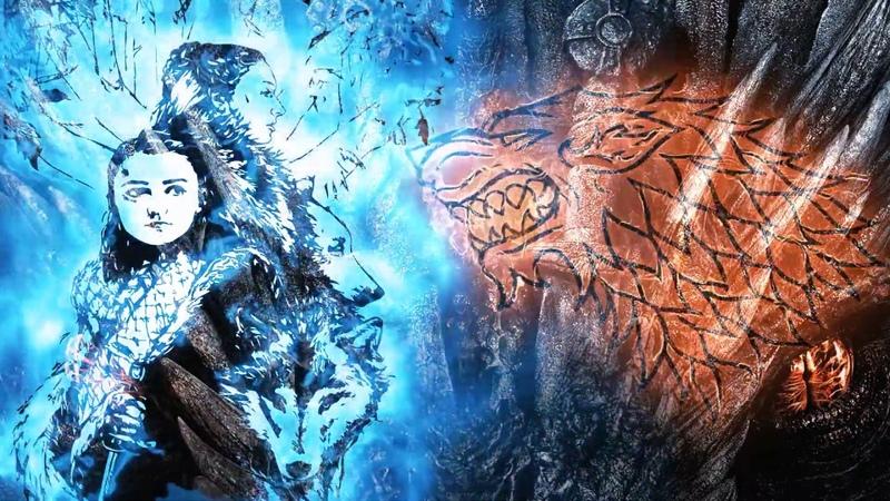 Arya and Sansa Stark Игра Престолов