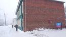 уфа башкирия россия. сильный снегопад с ветром буря шторм весна 4 марта 2021 г
