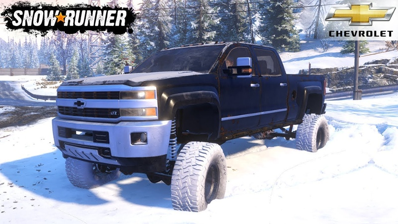 SnowRunner CHEVROLET DURAMAX RORO CUSTOMS Driving In Winter On Snow And Ice