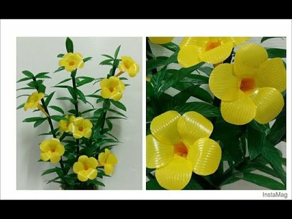 ดอกไม้จากหลอด ดอกบานบุรีจากหลอด by มายมิ 365