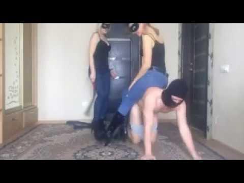Feet Fettish foot worship femdom FFM Session Ponyriding with 2 Mistresses Pornhub