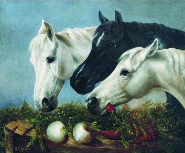 Николай Егорович Сверчков, будучи рожденным в семье конюха, служившего в придворных конюшнях, с самого детства с большой любовью и вниманием относился к животным И поэтому во многих его картинах