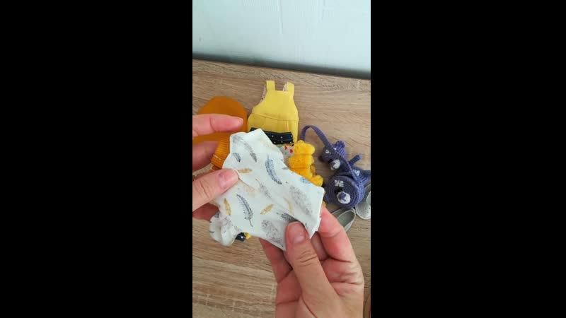 Обзор комплекта с сиреневой игрушкой и сумкой
