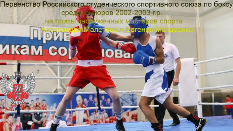 Первенство РССС по боксу среди юниоров 2002 2003 г р на призы заслуженных мастеров спорта Александра Малетина и Евгения Макарен