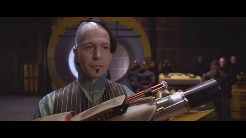 Zorg unveils the ZF1 weapon scene The Fifth Element