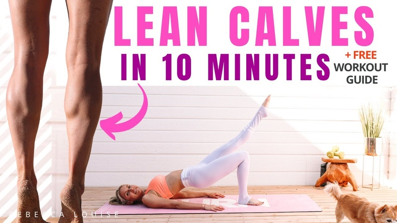 Follow ALONG CALF MUSCLE exercises for slimmer legs