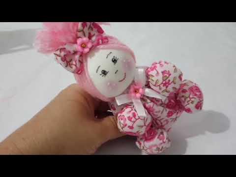 Boneca fuxico feita com sabonete com Cris Pinheiro