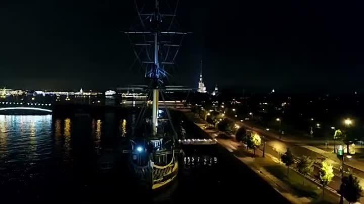 Joris Delacroix Wielki Symposia Drone Footage Night Saint Petersburg RU