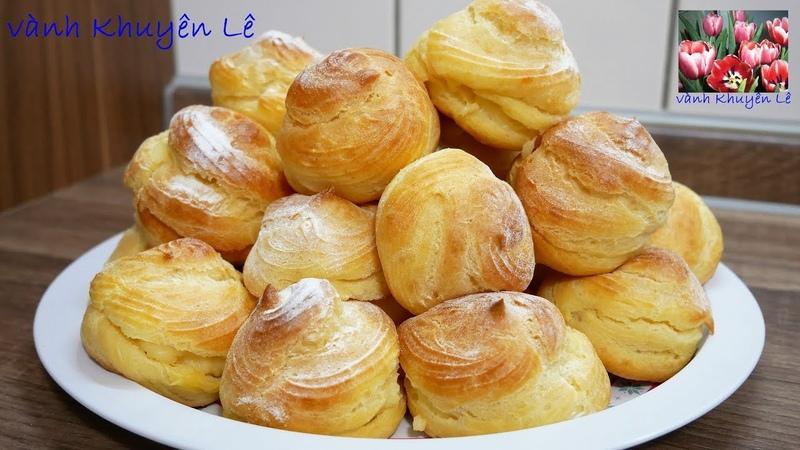 SU KEM Cách làm Bánh Su Kem không cần máy Choux Pastry đơn giản bất bại by Vanh Khuyen