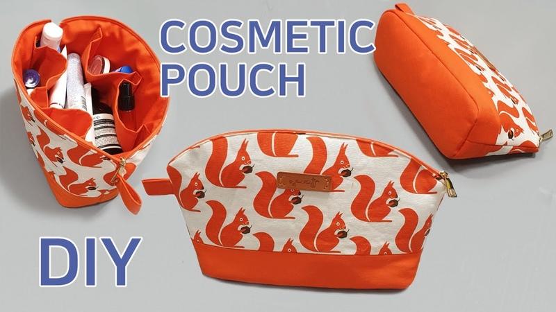 DIY Make cosmetic pouch/pouch/화장품 파우치 만들기/다용도 파우치/Kosmetikbeutel machen