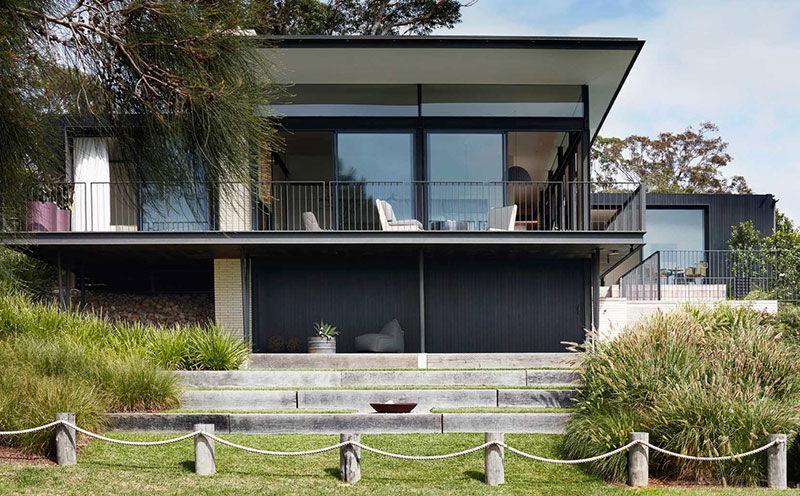 Современный курортный дом с панорамными видами на океан в Австралии || 02