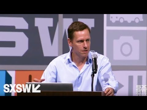 Peter Thiel You Are Not a Lottery Ticket Interactive 2013 SXSW
