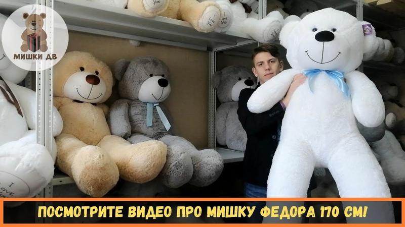 Большой плюшевый медведь во Владивостоке. Мишка Федор 170 см - от магазина подарков - Мишки ДВ