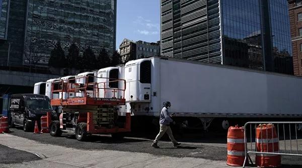 На улицах Нью-Йорка появились холодильники для трупов