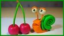 Лепим УЛИТКУ из пластилина. Snail in plasticine. Play Doh (Stop Motion).