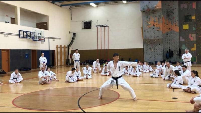 Kancho Nobuaki Kanazawa 8.DAN, kata Heian Sandan (SKIF)