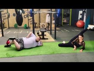 Фитнес: съемки нового сезона (Таня Храмова и Дима Красилов)