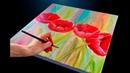 Весенние цветы /тюльпаны /easy flower painting for beginners