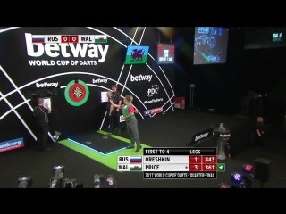 Russia vs Wales (PDC World Cup of Darts 2017 / Quarter Final)