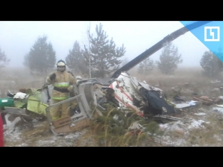 Вертолет Bell-407 упал в Татарстане, погиб пилот