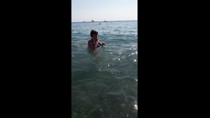 купаюсь ныряю радуюсь жизни на море Лазаревское 2019