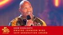 'Bring Everybody With You' Dwayne Johnson Wins 2019 Generation Award 2019 Movie TV Awards