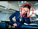 Стюардесса в самолёте просила мужчину выключить телефон. Он повернулся к ней и сказал Да пошла ты!