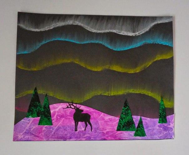 РИСУЕМ ПОЛЯРНУЮ НОЧЬ Завораживающую полярную ночь с северным сиянием и сугробами нарисовать смогут даже дошкольники при определенной вашей помощи. Картинки практически всегда получаются хорошо,