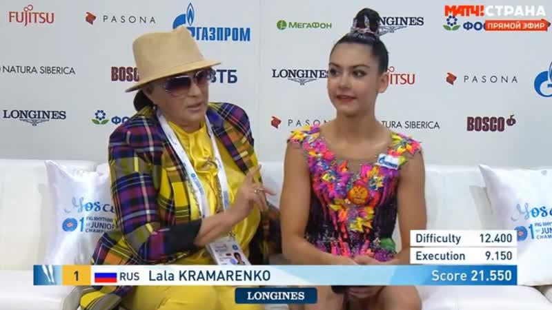 Лала Крамаренко булавы командные соревнования Юниорский чемпионат мира Москва